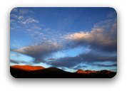 The birth of a new day -sunrise over mountains.