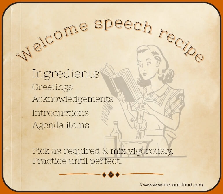 Welcome speech: effective opening remarks made easy
