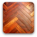 polished wooden floor boards